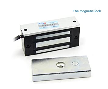 Amazon.com : Mini Electric Magnetic Door Lock 100lbs 12v : Camera ...