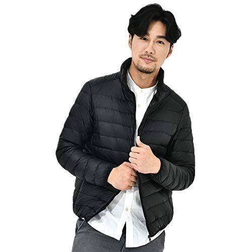 Zipper Windproof Black Winter Color Autumn Down Coats Jacket Collar Solid Popular Thin Outwear Stand Tianya Warm Winter Tops Mens Down Jacket tpwWqnRPcO
