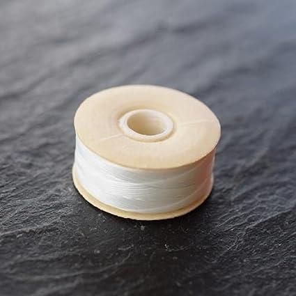 72 Yards NYMO White Nylon Beading Thread Size B for Delica Beads 66 Metres