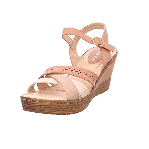 Quick-Schuh Women's 1000349/5 Fashion Sandals - 5Rosa/Creme N4xEJUhgLN