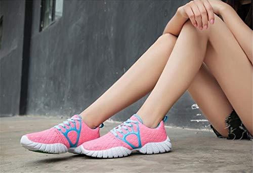 Dicke EIN Exing Schuhe Damenmode Mesh Schuhe Schwarz Erhöhen Shake Polyurethan Weiß Freizeitschuhe Höhe Untere PU Rosa Frauen qFSwqH1g