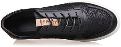 [スポンサー プロダクト][イノヤ]メンズ カジュアル スケートボードシューズ おしゃれ レースアップ ローカット デッキシューズ スケートシューズ カジュアルシューズ 革靴 男性用 通気性 通勤 通学 スニーカー ブラック ホワイト