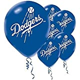 """Sports and Tailgating MLB Party Los Angeles Dodgers Printed Latex Balloons Decoration, Blue, 12"""", Pack of 6"""