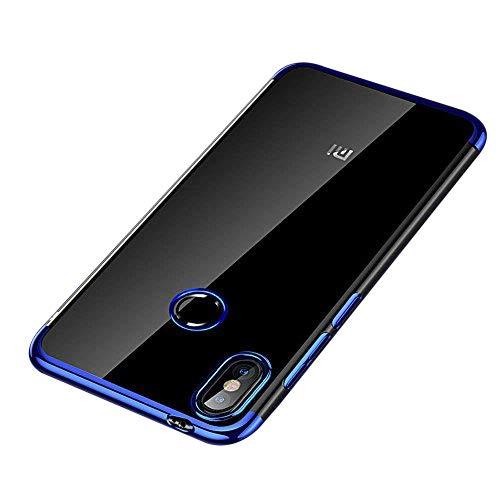 Caler ® Funda Reemplazo para Xiaomi Redmi Note 5 / Note 5 Pro Funda, Chapado Carcasas metálico Protector Transparente Suave TPU Silicona Anti-Arañazos ...