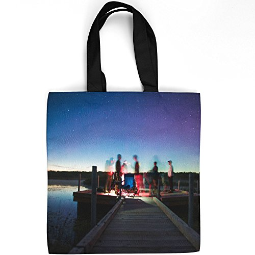 Westlake Art - Sky Galaxy - Tote Bag - Fashionable Picture Photography Shopping Travel Gym Work School - 16x16 Inch (E370C) (Bench Therapy Galaxy)