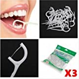 300pcs 2 In 1 Dental Flosser Floss Tooth Picks Teeth Clean Food Debris by SiamsShop