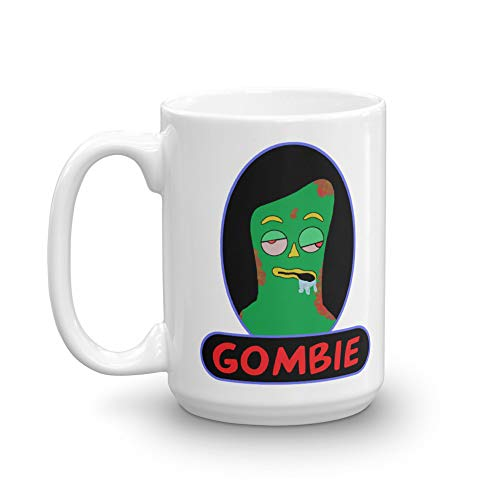 (Gombie. This funny zombie/Gumby mash-up coffee mug makes a funny gift.)