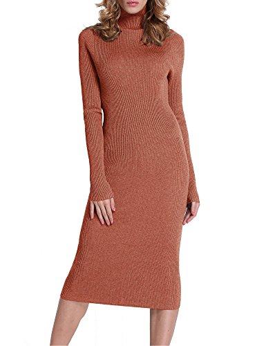 orange knit dress - 4