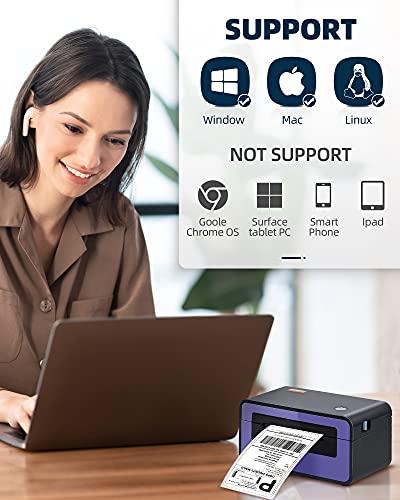 HPRT Label Printer, 4x6 Label Printer 150mm/s High Speed Printer, Thermal Label Maker Compatible with All Major Transportation PlatformsBarcode Printer SL42