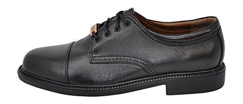 Dockers Men's Gordon Cap-Toe Oxford (8 2E US, Black Tumbled)
