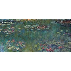 Oil Painting 'Claude Monet-Water Lilies,19th Century' Printing On Perfect Effect Canvas , 10x22 Inch / 25x55 Cm ,the Best Foyer Decoration And Home Gallery Art And Gifts Is This High Definition Art Decorative Canvas Prints