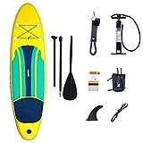 HgzBxL Recreación al Aire Libre Deportes acuáticos Surf Tablero de Paleta portátil e Inflable portátil, 10 pies de Peso Ligero Touring Sup Board Set for jóvenes y Adultos