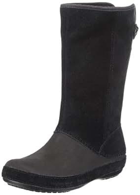 Crocs Women's Berryessa Suede Boot,Black/Black,5 M US