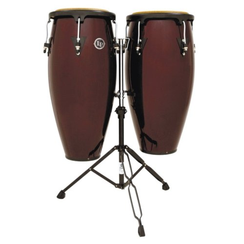 (Latin Percussion LPA646-DW Conga Drum Dark Wood / Black)