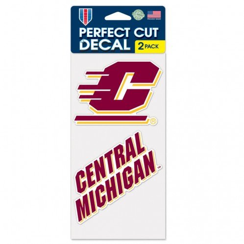 Wincraft NCAA Central Michigan University Perfect Cut Decal (Set of 2), 4'' x 4''