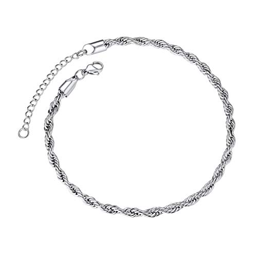 - Women Anklet Foot Chain Jewelry Stainless Steel Ankle Leg Bracelet Rope Chains Anklets Gifts