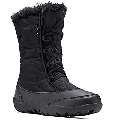 Leisfit Outdoor Waterproof Winter Snow Boots Warm Fur Booties Fashion Shoes for Women Girls