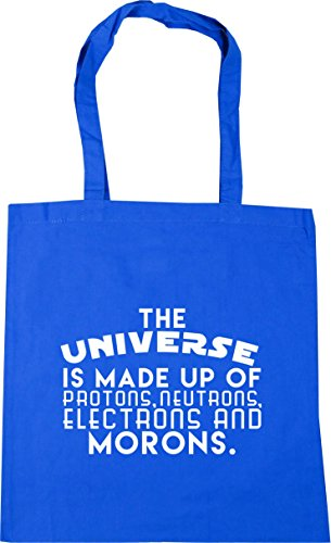 10 neutrons Tote protons HippoWarehouse of up is litres Bag made Beach morons The Universe Cornflower x38cm 42cm Shopping and electrons Blue Gym qqBwUS