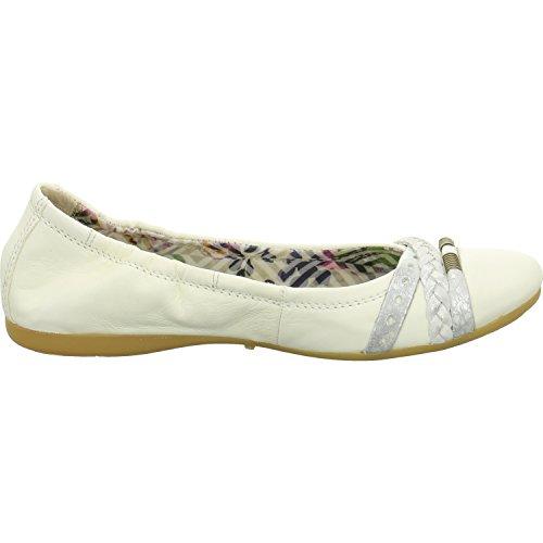 Mjus S670755-0418-0001 - Bailarinas para mujer Weiß