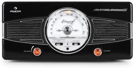 auna MG-TT-82C tocadiscos retro (33/45 RPM, altavoces integrados ...