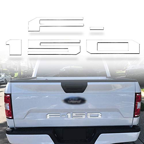 WINUNITE Tailgate Insert Letters for F150 2018(Chrome)