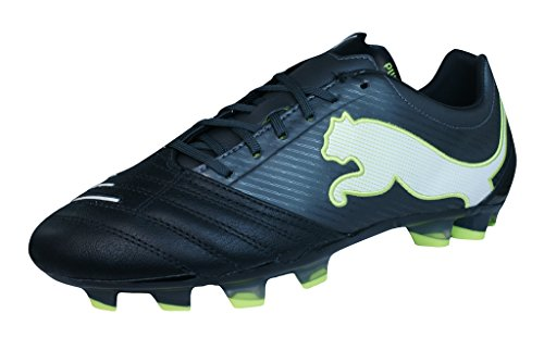 681e811a054e PUMA Powercat 2.12 FG Mens Leather Soccer Boots Cleats-Black-9.5