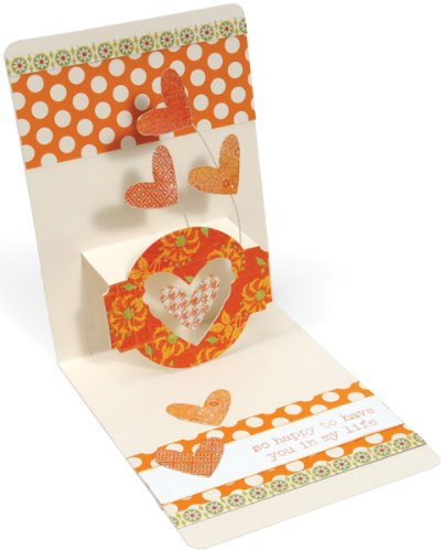 L Die Set - Card, Horizontal A2 with Circle Label, 3-D (Pop-Up) by Karen Burniston ()