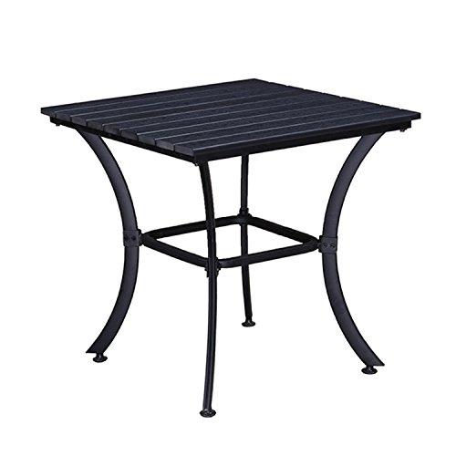 Oakland Living AZ904-TABLE-BK Modern Outdoor Dining Table, Black