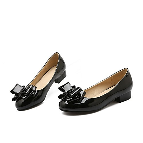 Balamasa Per Donna Archi Tomaie Basse Tomaie In Uretano Pompe-scarpe Nere