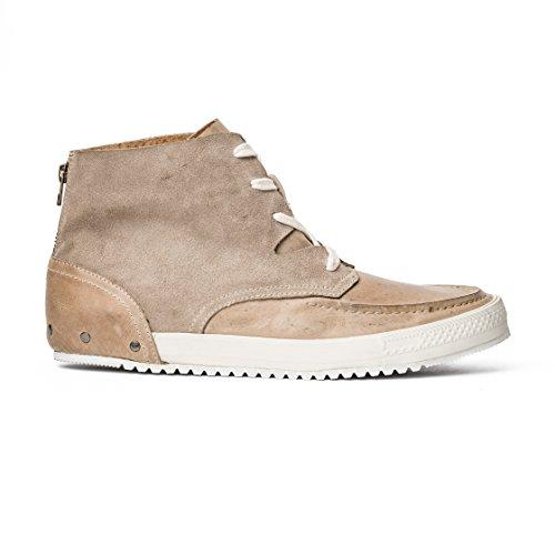 MCNDO Soho Chaussures Homme Urbaines de Cuir (8, Beige)