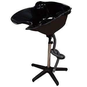 Giantex Height Adjustable Portable Salon Hair Shampoo Basin Treatment Bowl Black