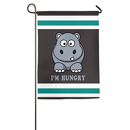 [HUNGRY HIPPO Outdoor Garden Flag] (Hungry Hippo Costumes)