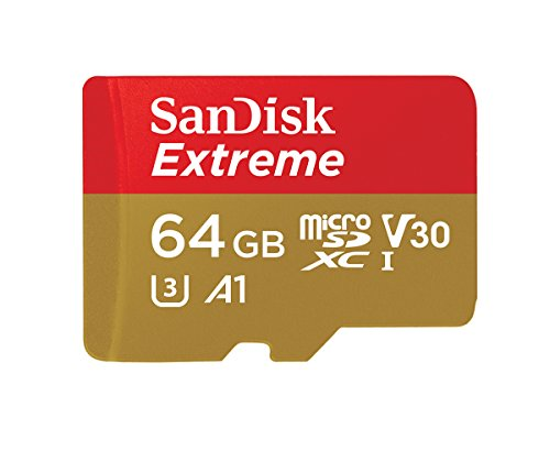 SanDisk Extreme 64GB microSDXC UHS-3 Card – SDSQXAF-064G-GN6MA [Newest Version]