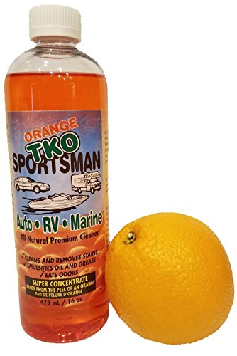 Sportsman Organic Orange TKO Super Concentrated Cleaner (16oz) All Purpose Citrus Cleaner, Degreaser, Deodorizer, Stain Remover, Pet Safe, Non Toxic, Eco (16 Oz Concentrated Stain Remover)