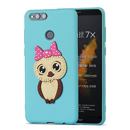 Case Huawei Soft TPU Shockproof Screen Skin Case Gel Free Design Silicone Cover HD Case Cartoon Cover 7X Owl Protective Back Scratch Flexible idatog Anti Bumper Protector Cute Honor Creative Green 3D For rqOxRrB