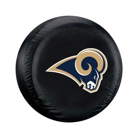 NFL Los Angeles Rams No Tire Coverlarge Tire Cover, Black, Large by Fremont Die
