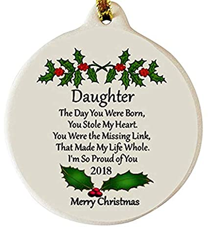 laurie g creations daughter with love 2018 porcelain christmas ornament rhinestone boxed