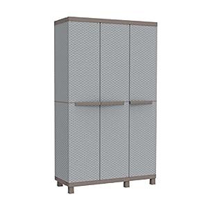 Terry Rattan Outdoor Storage Cabinet 3 Door Multifunction