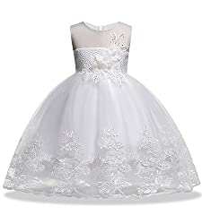 Sequin Lace Flower Sleeveless Baby Girls Dress