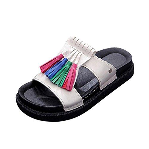 Dames Romaines Transer Femmes Sandales Plates Pantoufles Été Chaussures De Loisirs Confortables Blanc