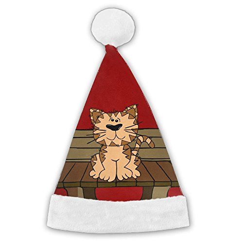 Hat Cat The Australia In Costume (Bdna Velvet Santa Claus Hat Cat Merry Christmas Hats Adults Children Costume XMas Decor Party Supplies)