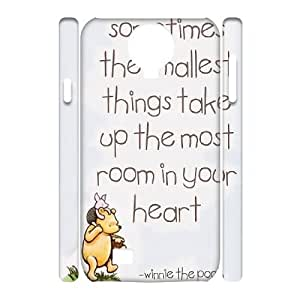 New Design Durable Back Cover Case for SamSung Galaxy S4 I9500 3D Phone Case - Winnie the Pooh quote HX-MI-1617018