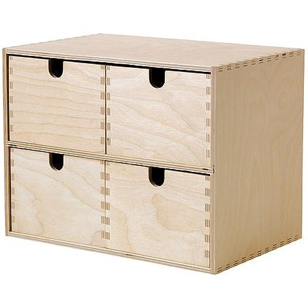 Ikea MOPPE - Mini cajonera, contrachapado de Abedul - 29x18x22 cm ...
