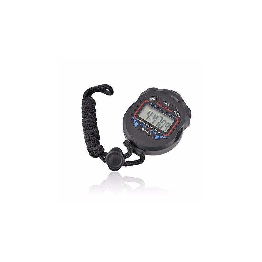 Digital Stopwatch, FTXJ Professional Handheld LCD Chronograph Stopwatch Sports Timer