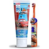Disney Planes/Cars Powered Toothbrush and Crest Pro Health Stages Floride Anticavity Toothpaste