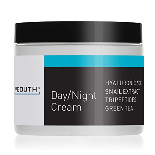 YEOUTH Day Night Moisturizer for Face with Snail Extract, Hyaluronic Acid, Green Tea, and Peptides, Anti Aging Day Cream or Night Cream Moisturizer for Dry Skin, 4 oz ()