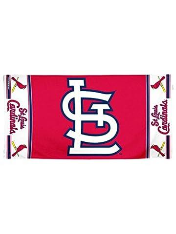 St. Louis Cardinals Wincraft MLB Red Navy White Multiple Logo Fiber Beach Towel - Louis Cardinals Fiber