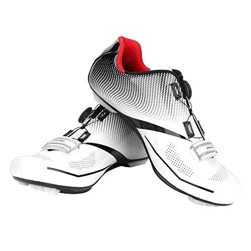 Tbest Road Cycling Shoes Men,1 Pair Breathable Road Mountain Bike shoes MTB Anti-Skid Lock System Road Bike Shoe Men…