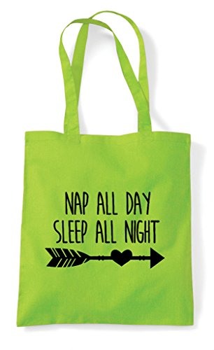 Tote Day Sleep Statement Lime Nap Bag Night All Shopper xpwaXH