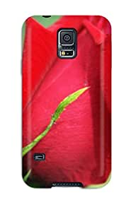 New Style New Arrival Cover Case With Nice Design For Galaxy S5- Red Flowers